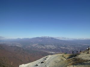 日向山から見た八ヶ岳